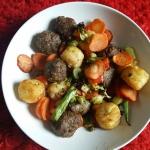 Gehaktballetjes met gemengde groente en Rösti ala Nancy Alexander uit de Airfryer