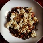 Quinoa linzen - bloemkool - Airfried pulled turkey eenpansgerecht ala Nancy Alexander