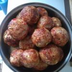 Gehaktballen met zoete paprika en courgette ala Mieke van Laere