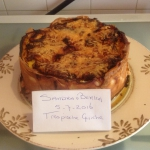 Tropische Quiche met kipfilet, mango en ananas ala Sandra van Berkel